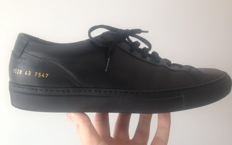 common projects achilles low black leather